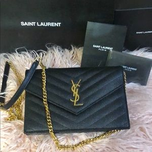 18870c54ddcc 100% Authentic YSL small chain wallet bag.  1250  0. Size  OS · Yves Saint  Laurent
